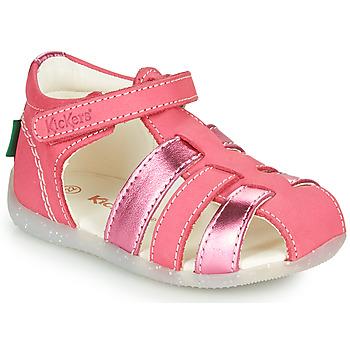 Scarpe Bambina Sandali Kickers BIGFLO-2 Rosa