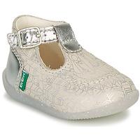 Scarpe Bambina Ballerine Kickers BONBEK-2 Argento