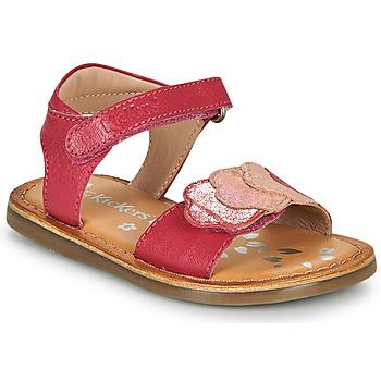 Scarpe Bambina Sandali Kickers DYASTAR Rosa