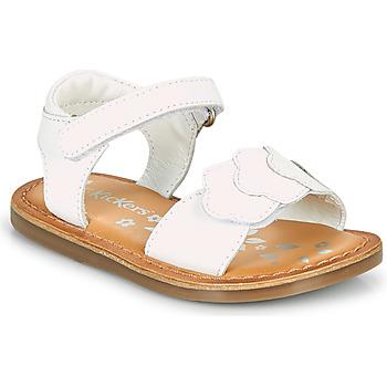 Scarpe Bambina Sandali Kickers DYASTAR Bianco