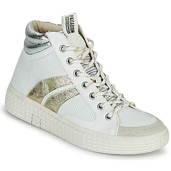 Scarpe Donna Sneakers alte Palladium Manufacture TEMPO 03 TXT Bianco