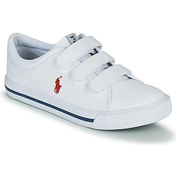 Scarpe Unisex bambino Sneakers basse Polo Ralph Lauren ELMWOOD EZ Bianco
