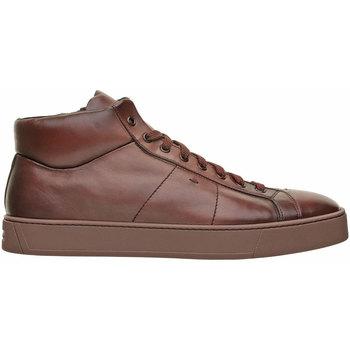 Scarpe Uomo Sneakers alte Santoni SNEAKER ALTA Marrone