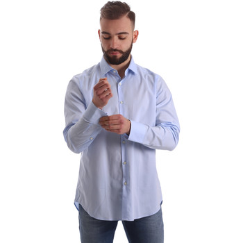 Abbigliamento Uomo Camicie maniche lunghe Gmf 962111/21 Blu