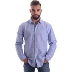 Abbigliamento Uomo Camicie maniche lunghe Gmf 962118/03 Blu