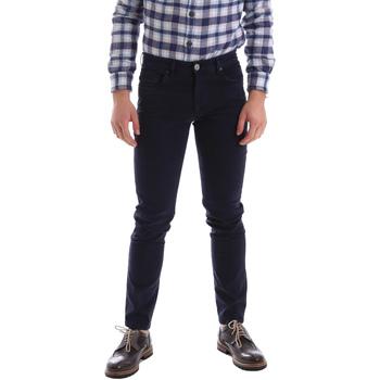 Abbigliamento Uomo Pantaloni 5 tasche Sei3sei 02396 Blu