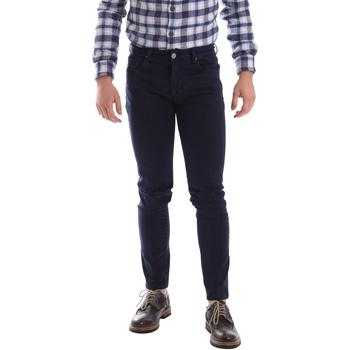 Abbigliamento Uomo Pantaloni 5 tasche Sei3sei 02696 Blu