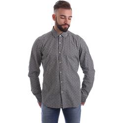Abbigliamento Uomo Camicie maniche lunghe Gmf 962169/04 Nero