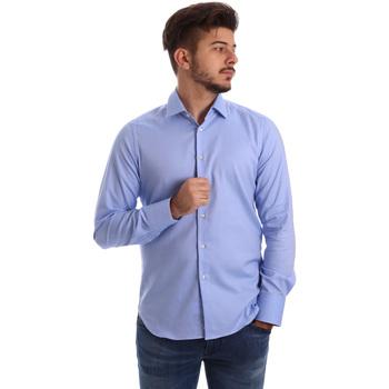 Abbigliamento Uomo Camicie maniche lunghe Gmf 962103/04 Blu
