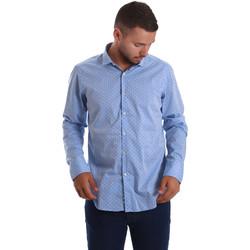 Abbigliamento Uomo Camicie maniche lunghe Gmf 971208/03 Blu