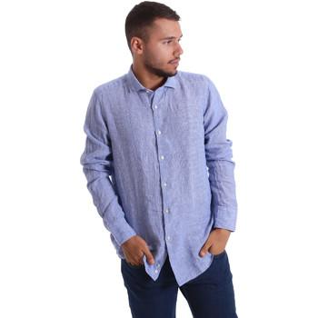 Abbigliamento Uomo Camicie maniche lunghe Gmf 971314/04 Blu