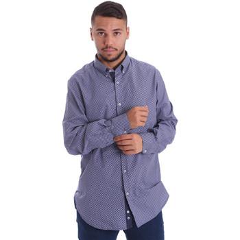 Abbigliamento Uomo Camicie maniche lunghe Navigare N691010BD Blu