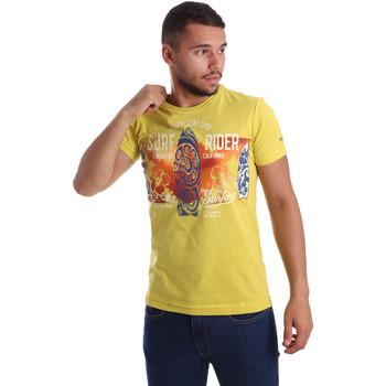 Abbigliamento Uomo T-shirt maniche corte Navigare N631017 Giallo