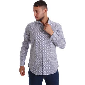 Abbigliamento Uomo Camicie maniche lunghe Gmf 971184/02 Blu