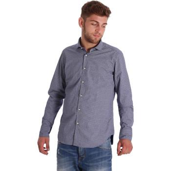 Abbigliamento Uomo Camicie maniche lunghe Gmf 971192/03 Blu
