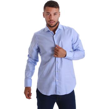 Abbigliamento Uomo Camicie maniche lunghe Gmf 971103/03 Blu
