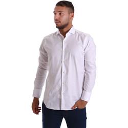Abbigliamento Uomo Camicie maniche lunghe Gmf 971103/01 Bianco