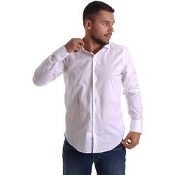 Abbigliamento Uomo Camicie maniche lunghe Gmf 971250/01 Bianco