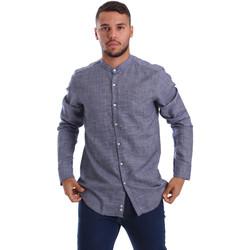 Abbigliamento Uomo Camicie maniche lunghe Gmf 971139/13 Blu