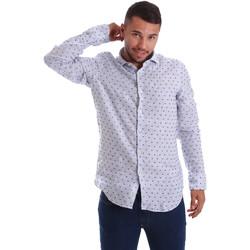 Abbigliamento Uomo Camicie maniche lunghe Gmf 971312/01 Blu