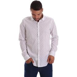 Abbigliamento Uomo Camicie maniche lunghe Gmf 971200/01 Bianco