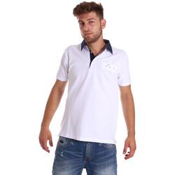 Abbigliamento Uomo Polo maniche corte Bradano 000115 Bianco