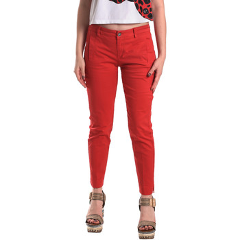 Abbigliamento Donna Chino Fornarina BE171L74G29176 Rosso