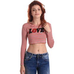 Abbigliamento Donna T-shirts a maniche lunghe Fornarina BE175L14JG0976 Rosso