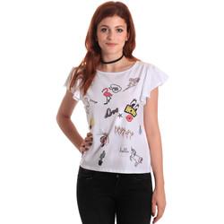 Abbigliamento Donna T-shirt maniche corte Fornarina BE175L40JG0709 Bianco