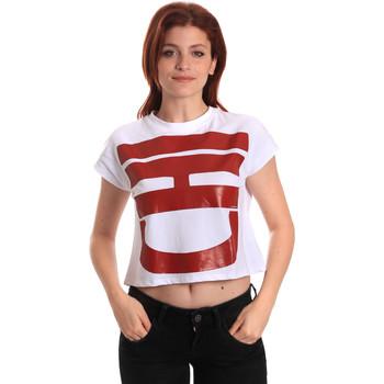 Abbigliamento Donna T-shirt maniche corte Fornarina SE175L31JG0709 Bianco