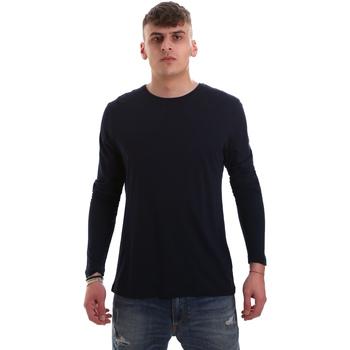 Abbigliamento Uomo T-shirts a maniche lunghe Antony Morato MMKL00264 FA100066 Blu
