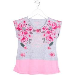 Abbigliamento Bambina T-shirt maniche corte Losan 714 1009AB Grigio