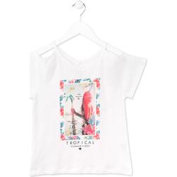 Abbigliamento Bambina T-shirt maniche corte Losan 714 1026AB Bianco