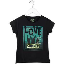 Abbigliamento Bambina T-shirt maniche corte Losan 714 1204AB Nero