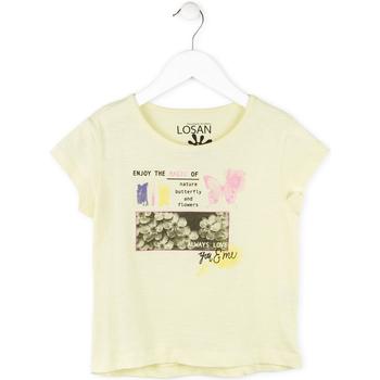 Abbigliamento Bambina T-shirt maniche corte Losan 714 1208AB Giallo