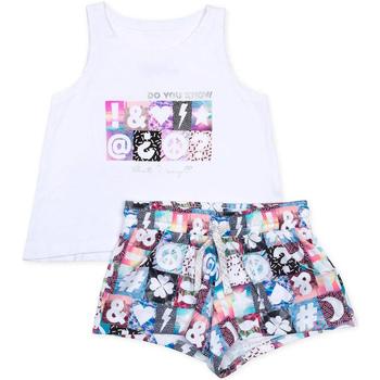 Abbigliamento Bambina Completo Losan 714 8000AB Bianco