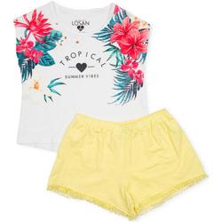 Abbigliamento Bambina Completo Losan 714 8015AB Bianco