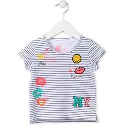 Abbigliamento Bambina T-shirt maniche corte Losan 716 1033AD Bianco