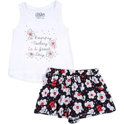 Abbigliamento Bambina Completo Losan 716 8013AD Bianco