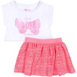 Abbigliamento Bambina Completo Losan 716 8016AD Bianco