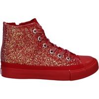 Scarpe Bambina Sneakers alte Lulu LV010077S Rosso