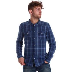 Abbigliamento Uomo Camicie maniche lunghe Gaudi 721BU46005 Blu