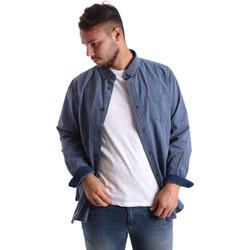 Abbigliamento Uomo Camicie maniche lunghe Ransom & Co. JOY-S059 Blu
