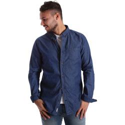 Abbigliamento Uomo Camicie maniche lunghe Ransom & Co. JOY-S058 Blu