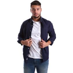 Abbigliamento Uomo Camicie maniche lunghe Ransom & Co. JOY-S051 Blu
