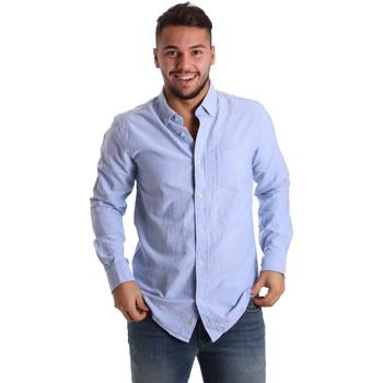 Abbigliamento Uomo Camicie maniche lunghe Ransom & Co. JOY-S074 Blu