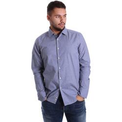 Abbigliamento Uomo Camicie maniche lunghe Gmf 972144/01 Blu