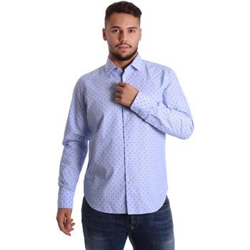 Abbigliamento Uomo Camicie maniche lunghe Gmf 972158/01 Blu