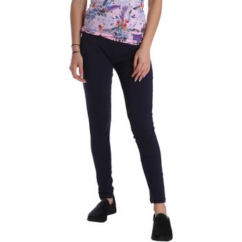 Abbigliamento Donna Leggings Key Up 095F 0001 Blu