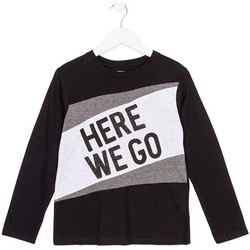 Abbigliamento Unisex bambino T-shirts a maniche lunghe Losan 723 1020AA Nero